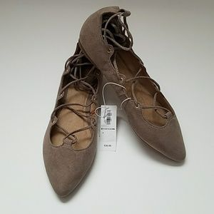 Nwt Old Navy Lace Up Flats sz 7